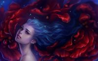 Girl with blue hair [2] wallpaper 1920x1080 jpg