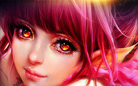 Girl with fiery eyes wallpaper 1920x1080 jpg