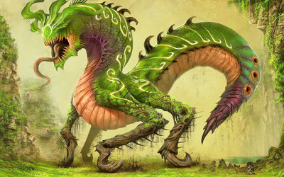 Green dragon [2] wallpaper