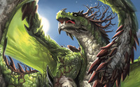 Green dragon wallpaper 2560x1600 jpg