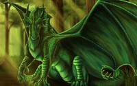 Green dragon [4] wallpaper 1920x1200 jpg