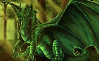 Green dragon [4] wallpaper