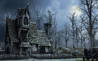 Haunted house wallpaper 2880x1800 jpg