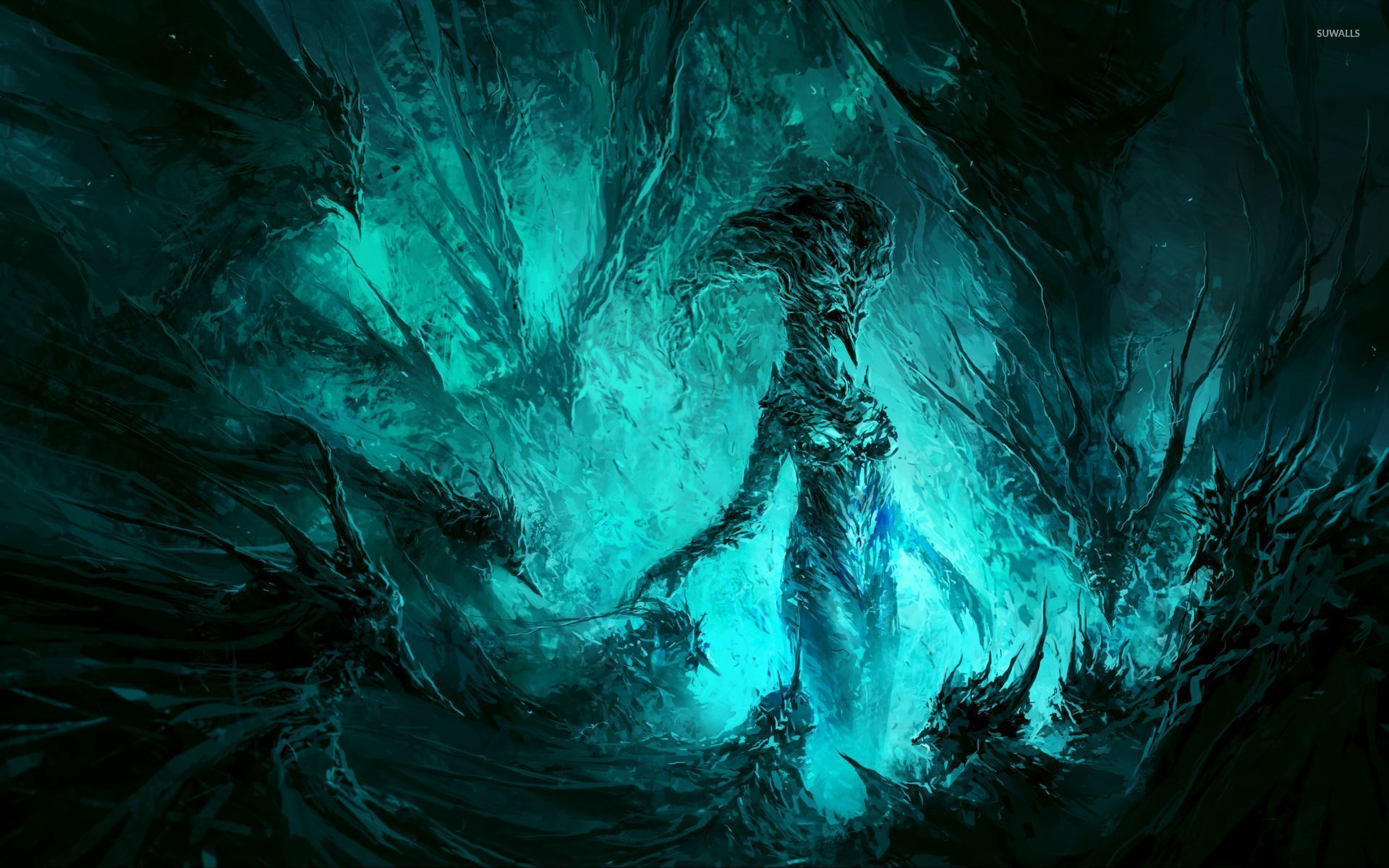 ice demon wallpaper fantasy wallpapers 26516