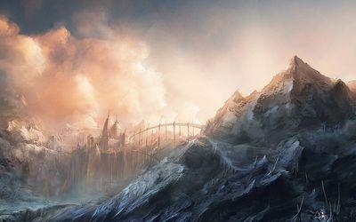 Kingdom beyond the bridge wallpaper