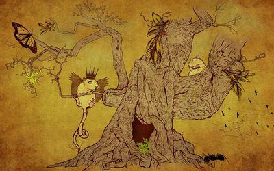 Life on a tree wallpaper