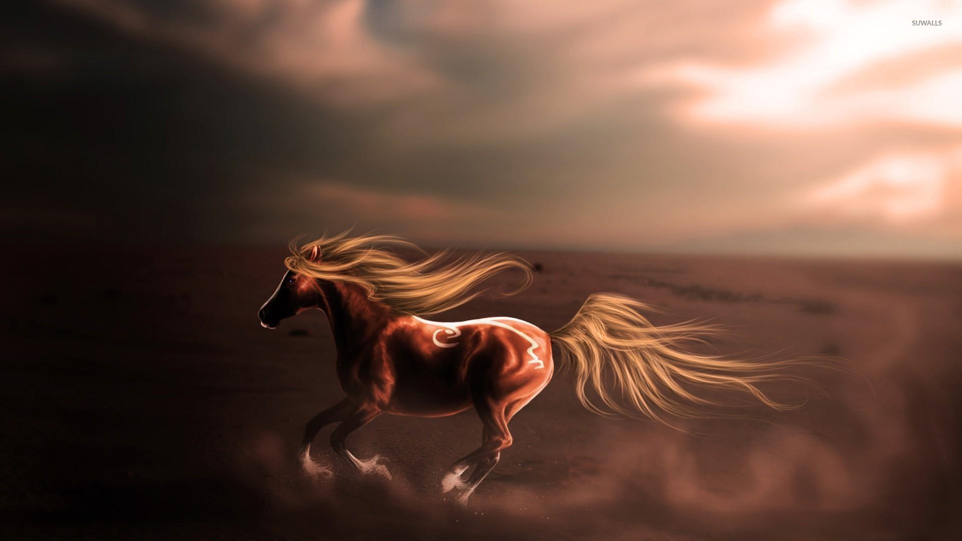 Majestic horse in the desert wallpaper fantasy wallpapers 25789 majestic horse in the desert wallpaper voltagebd Images
