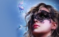 Masked girl wallpaper 1920x1200 jpg