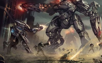 Mecha war wallpaper