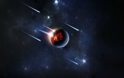 Meteor shower wallpaper