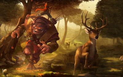 Monster hunting deer wallpaper