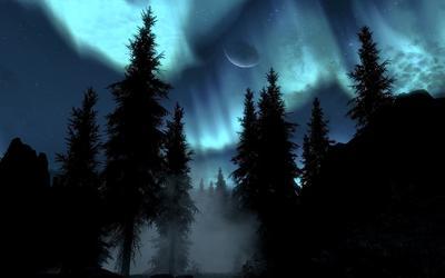 Moonlit night wallpaper