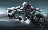 Motorcycle of the future wallpaper 2560x1440 jpg