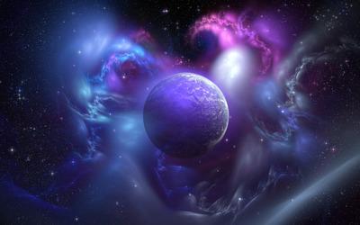 Nebula and planet wallpaper