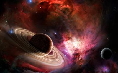 Nebula and planets wallpaper