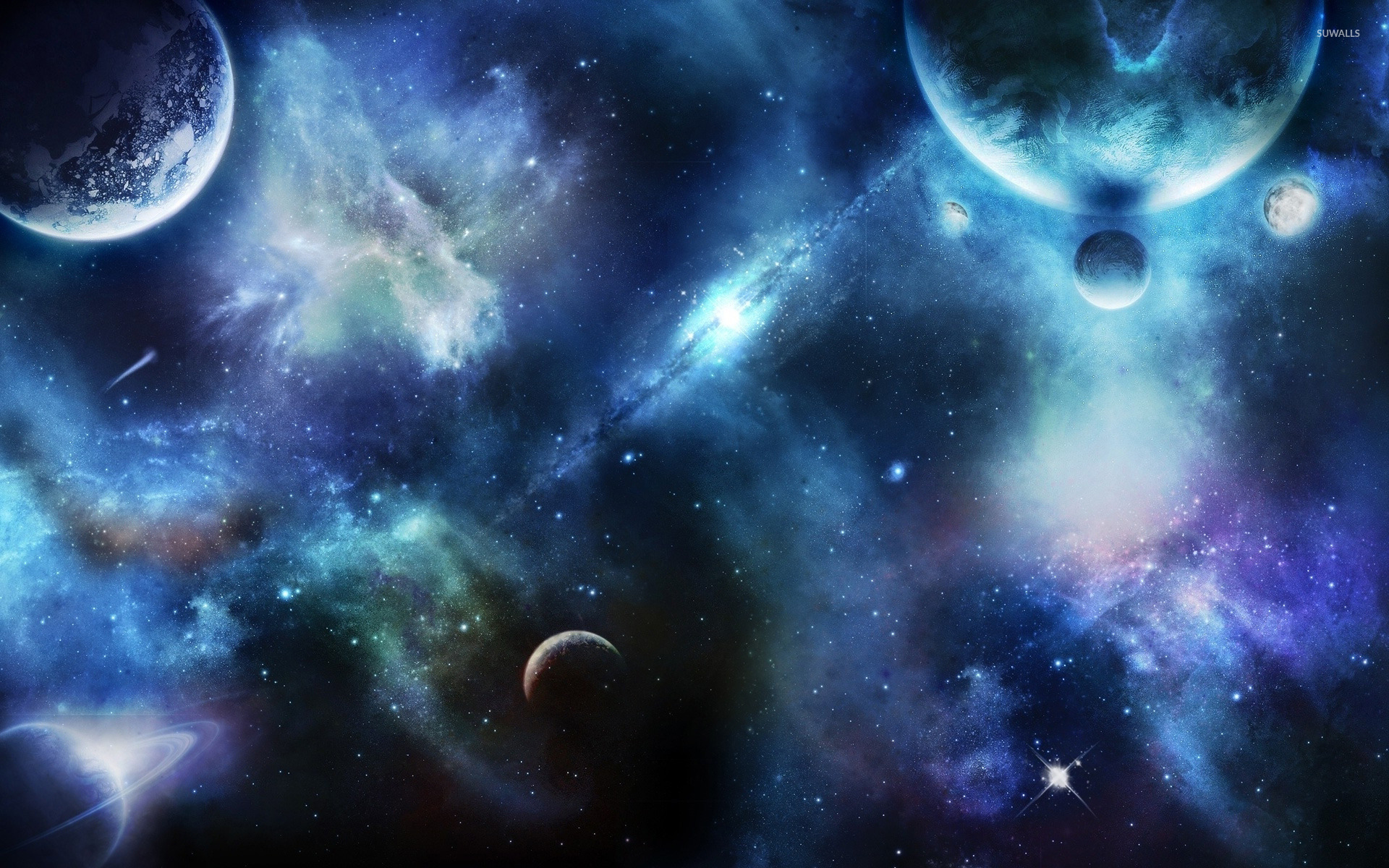 Nebula and planets [4] wallpaper - Fantasy wallpapers - #13240