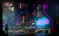 Neon signs in the night wallpaper 2880x1800 jpg
