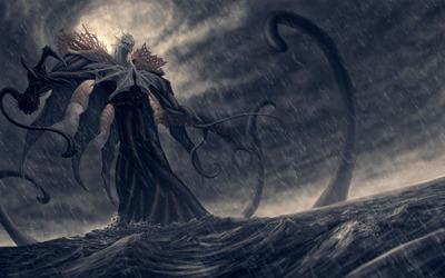 Ocean monster wallpaper