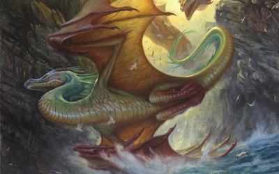 Orange dragon wallpaper