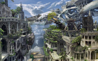 Overgrown white city wallpaper 2560x1600 jpg