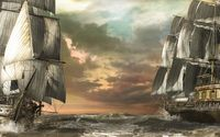 Pirate ships wallpaper 2560x1600 jpg
