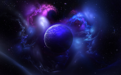 Planet and Nebula wallpaper