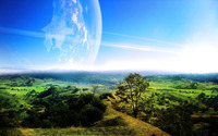 Planet site in the sky wallpaper 2880x1800 jpg