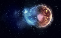 Planet surrounded by star dust wallpaper 1920x1200 jpg