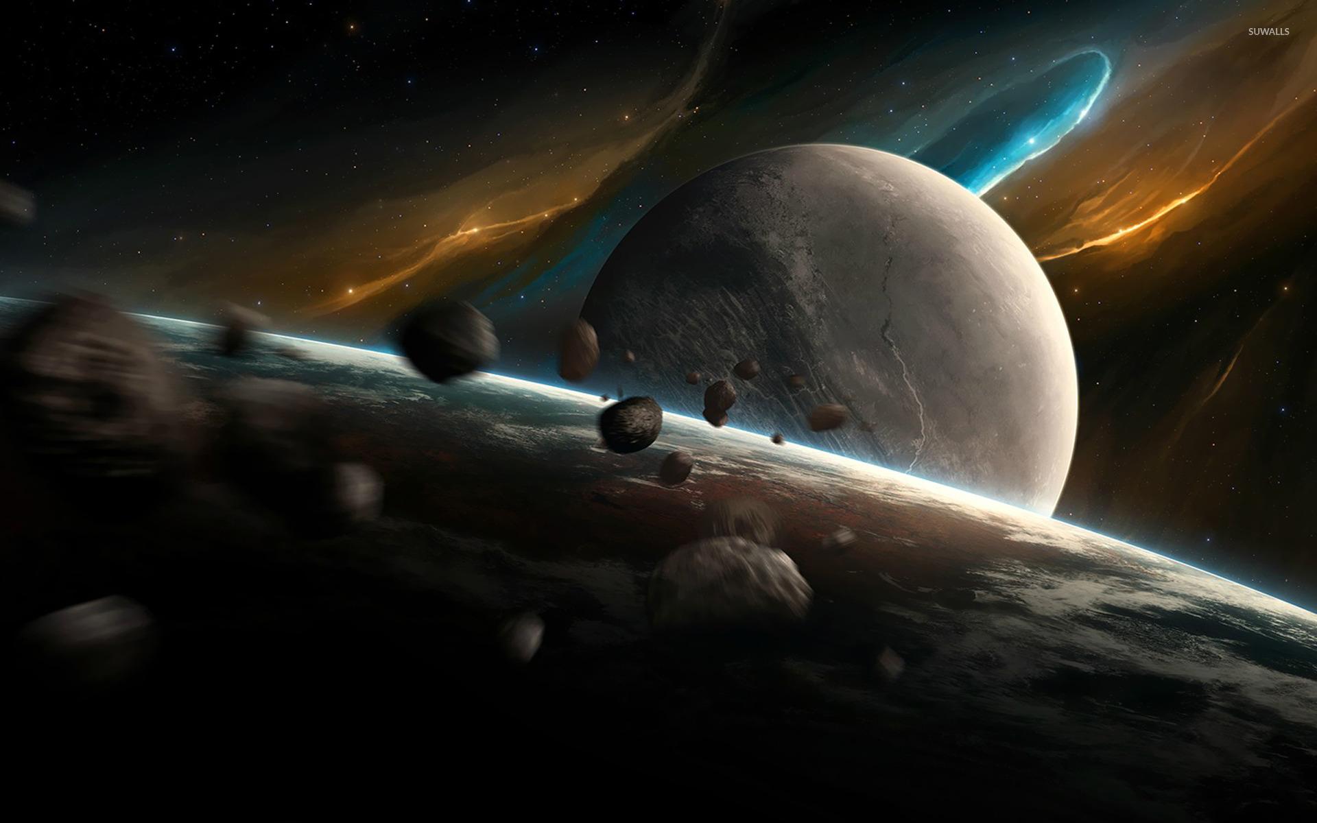 Resultado de imagen para asteroids moons planets
