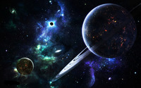 Planets and galaxies wallpaper 1920x1200 jpg