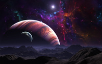 Planets and moons wallpaper 2560x1600 jpg