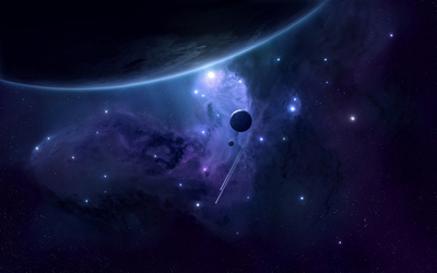 Planets and stars wallpaper