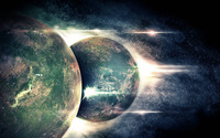 Planets colliding wallpaper 1920x1080 jpg