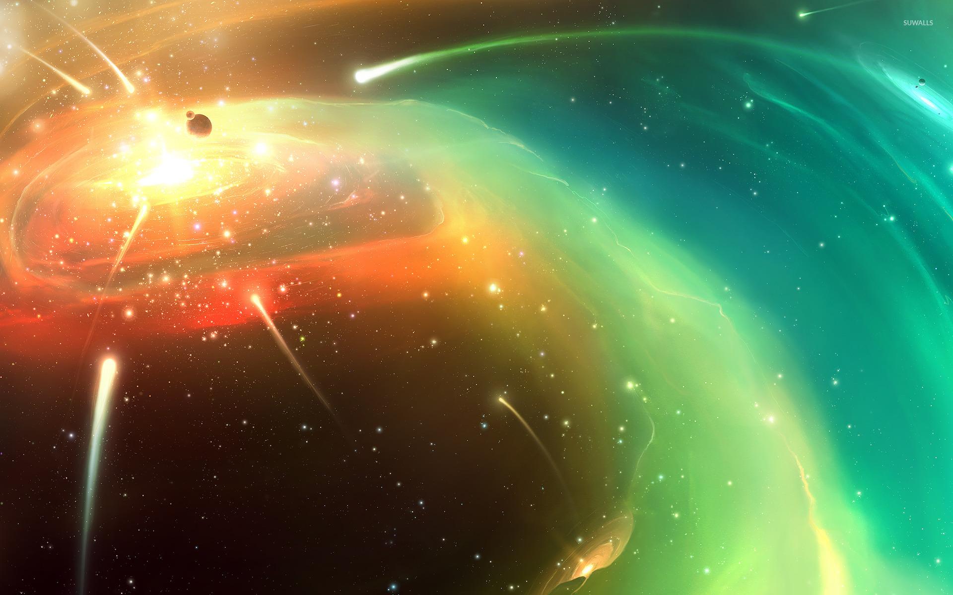 purple planet star comet - photo #28