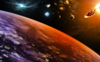 Planets hit by asteroids [3] wallpaper 2560x1600 jpg