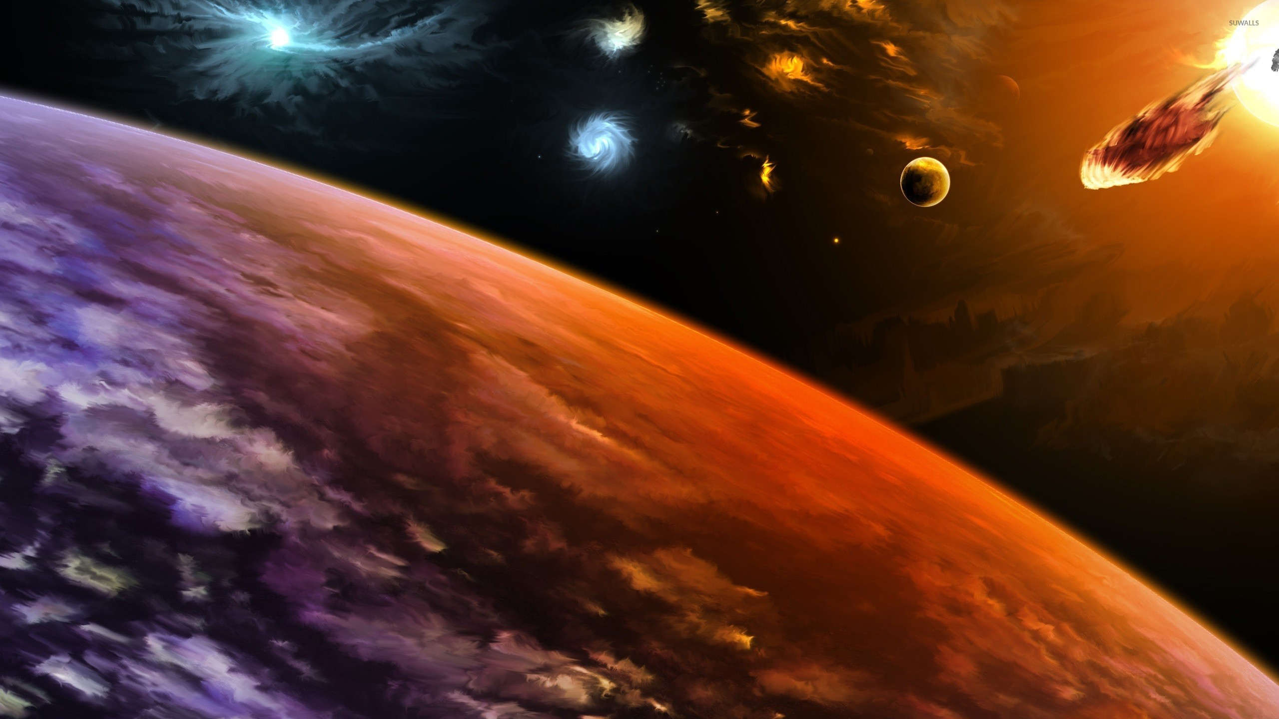 Planets hit by asteroids [3] wallpaper - Fantasy ...