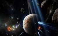 Planets hit by asteroids [2] wallpaper 1920x1200 jpg