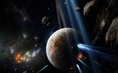 Planets hit by asteroids [2] wallpaper