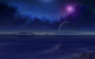 Planets in the sky wallpaper