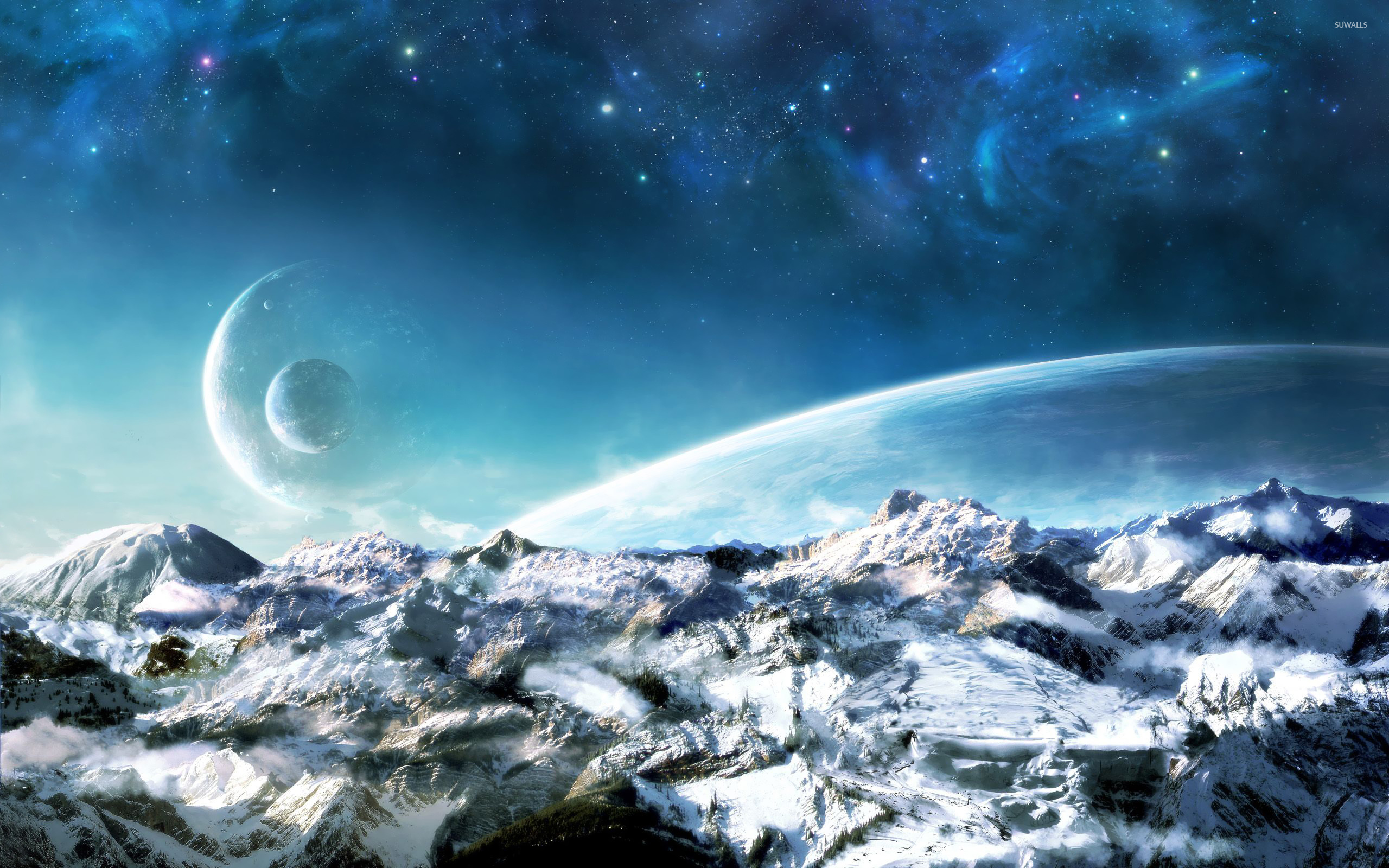 Monstres Artificiels (Wot5c) Planets-over-the-snowy-mountains-22135-2560x1600