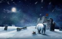 Polar bears at the fort wallpaper 1920x1200 jpg