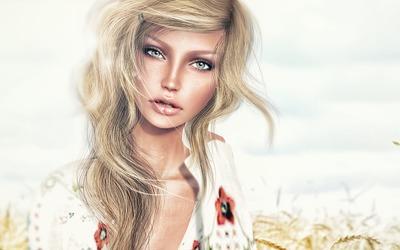 Portrait of a blonde wallpaper