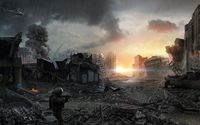 Post-apocalyptic city wallpaper 1920x1080 jpg