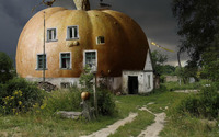 Pumpkin house wallpaper 1920x1200 jpg