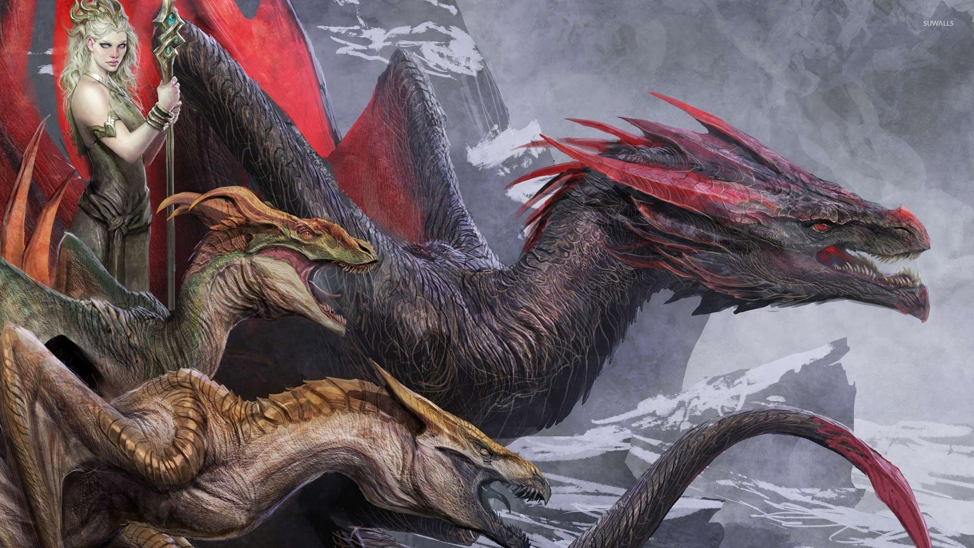 Queen Of The Dragons Wallpaper Fantasy Wallpapers 36411