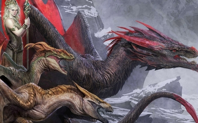 Queen of the dragons wallpaper