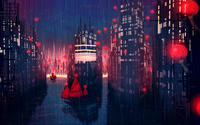 Rainy city wallpaper 2560x1600 jpg
