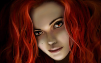 Red haired girl wallpaper 1920x1200 jpg