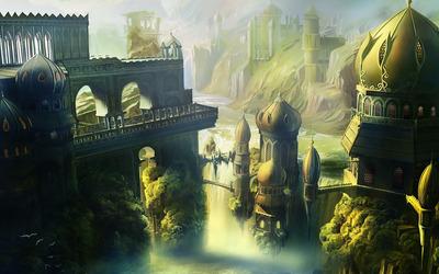 Riverside kingdom wallpaper