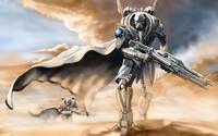 Robot soldiers in the desert wallpaper 2880x1800 jpg